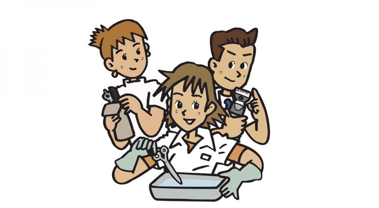 美容機器の消毒について