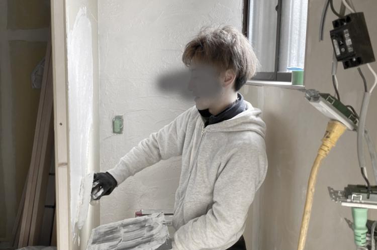 初めての漆喰塗り